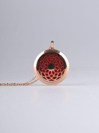 Aroma Pendant Chrysanthemum Rose Gold