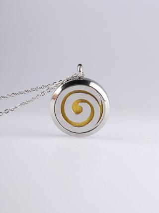 Aroma Pendant Koru silver