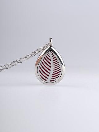 Aroma Pendant Teardrop Fern silver