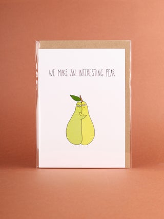 Card - Interesting Pear