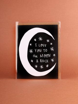 Card - Moon and Back