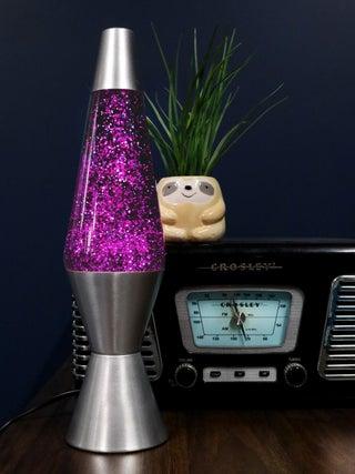 Diamond Glitter Lamp Silver / Purple
