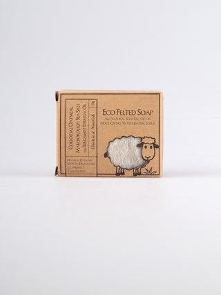 Eco Felted Soap - Oatmeal, Sea Salt & Bergamot Essential Oil