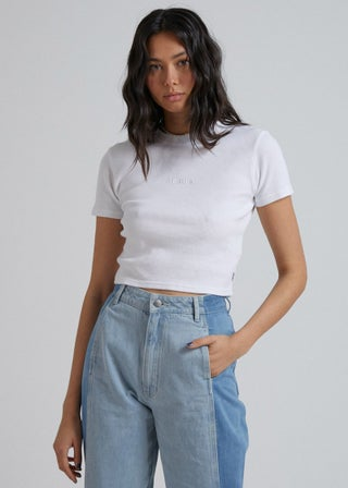 Erin - Organic Cotton Waffle Fitted Tee