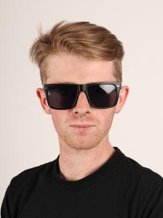 Flat Top Contrast Arm Sunglasses