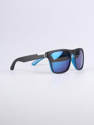 Flat Top Notched Square Polarised Sunglasses