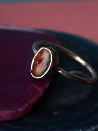 Geode Sterling Silver Ring