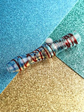 Glass Cig Holder w- Roll Stop