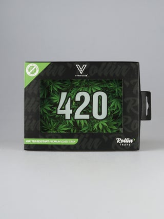 Glass Tray:Small - 420 Green