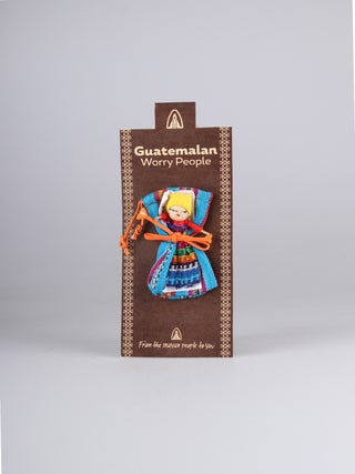 Guatemalan Worry Doll with Bag