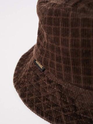 Kaia - Hemp Check Corduroy Bucket Hat
