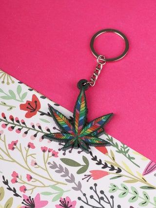 Keyring Rainbow Leaf