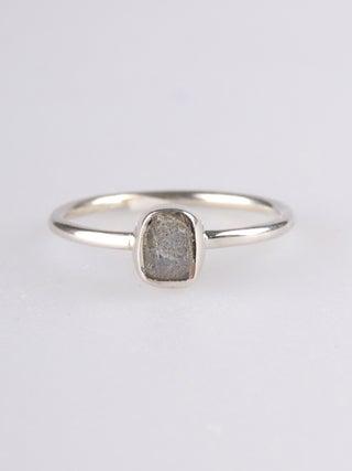 Labradorite Rough Sterling Silver Ring