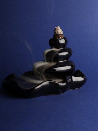 Large Pebbles Backflow Incense Burner