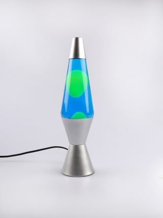 Lava Lamp Silver / Blue / Yellow