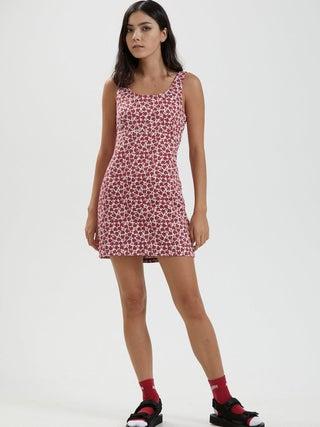 Madeline - Hemp Canvas Floral Mini Dress