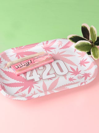 Metal Tray:Small - 420 Pink