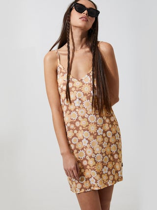 MJ Floral - Hemp Slip Dress