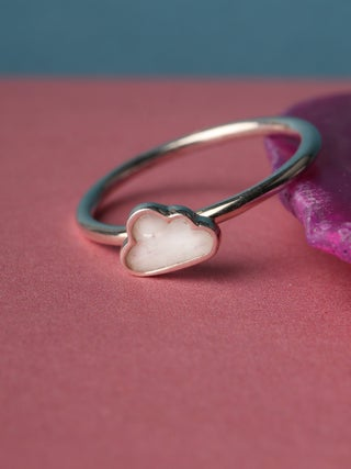 Moonstone Cloud Sterling Silver Ring