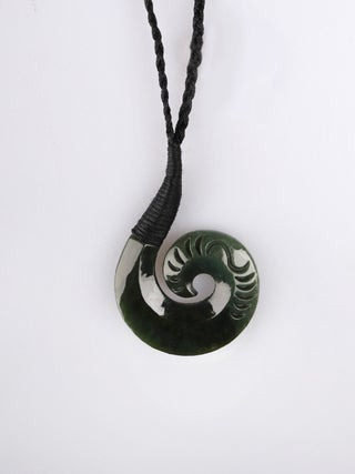 NZ MADE - Greenstone Bound Hook Pendant