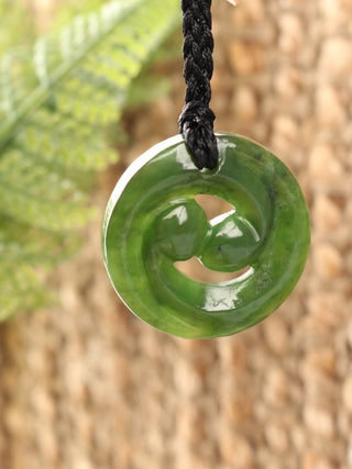 NZ MADE - Greenstone Closed Koru Pendant