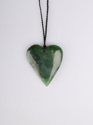 NZ MADE - Greenstone Heart Pendant