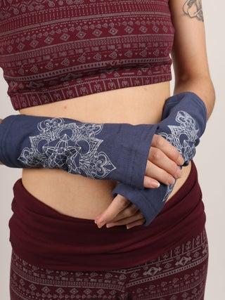 Organic Cotton Fleece Arm Warmers - Mandala