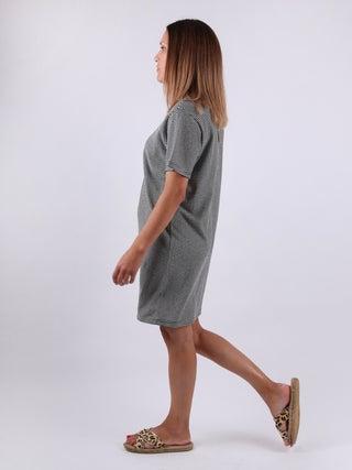 Organic Hemp Boxy Stripe Tee Dress