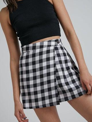 Reality - Organic Gingham Twill Wrap Skirt