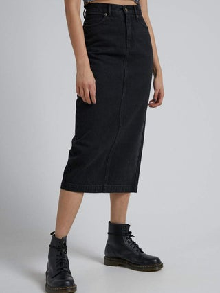 Reed - Organic Denim Midi Skirt