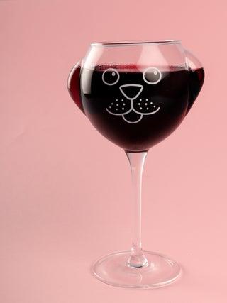 Ruff Day Wine Glass
