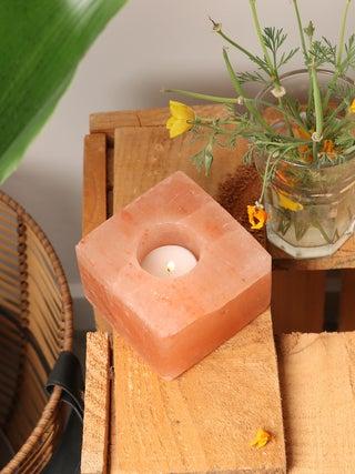 Salt Tea Light Cube