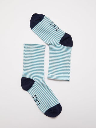 Saxe - Hemp Stripe Crew Socks