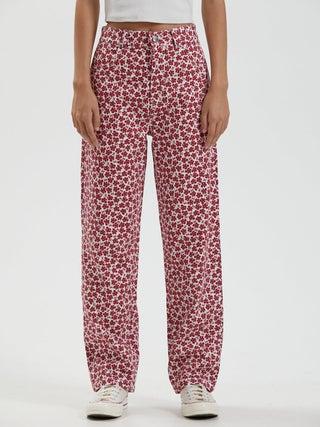 Shelby Long - Hemp Floral Wide Leg Pants