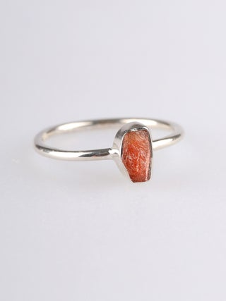 Sunstone Rough Sterling Silver Ring