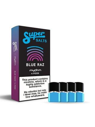 Super Salts x myohm Blue Razz 4pc