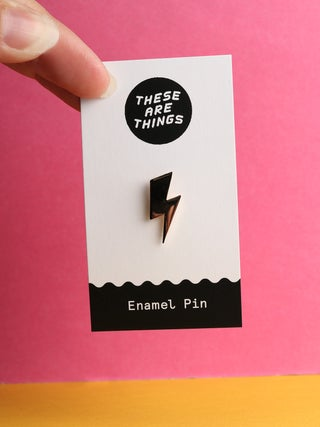 These Are Things Pin- Lightning Bolt