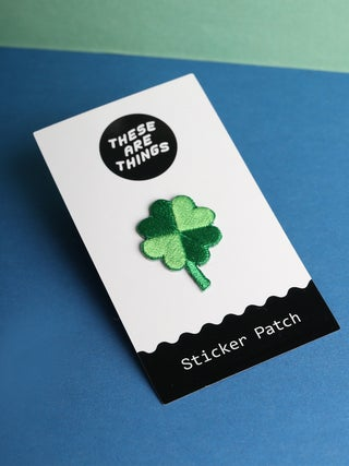 These Are Things Sticker Patch- Four Leaf Clover