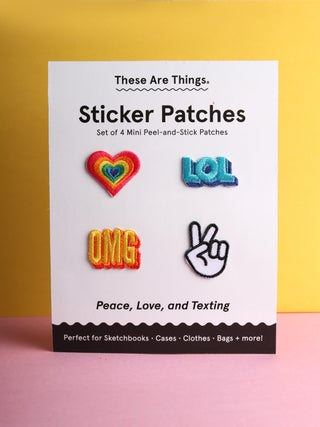 These Are Things Sticker Patch Set- Peace, Love & Texting