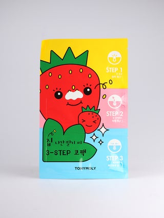 Tony Moly Strawberry 3 Step Nose Pack