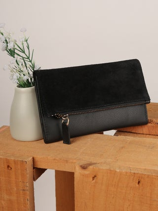 Trade Aid Leather and Suede Wallet