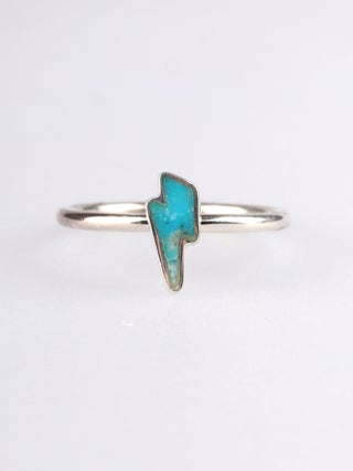 Turquoise Bolt Sterling Silver Ring