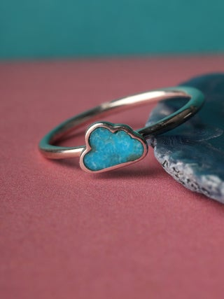Turquoise Cloud Sterling Silver Ring