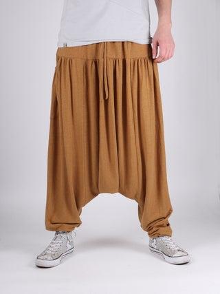 Unisex Organic Hemp Drawstring Harem Pants
