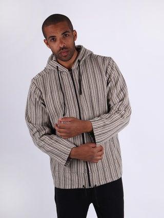 Unisex Stripe Zip Hoody