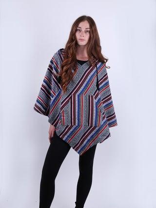 Unisex Woodstock Cotton Poncho