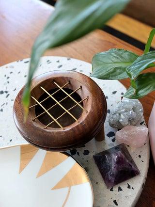 Wooden Resin / Charcoal Burner